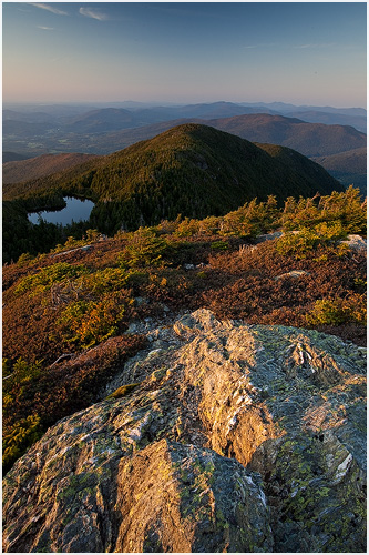 View from Mount Mansfield and Lake of the Clouds in northern Vermont