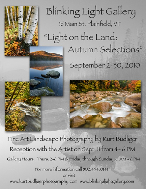 Vermont landscape photography exhibit